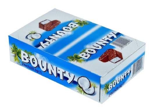 شکلات نارگیلی بونتی بسته 24عددی