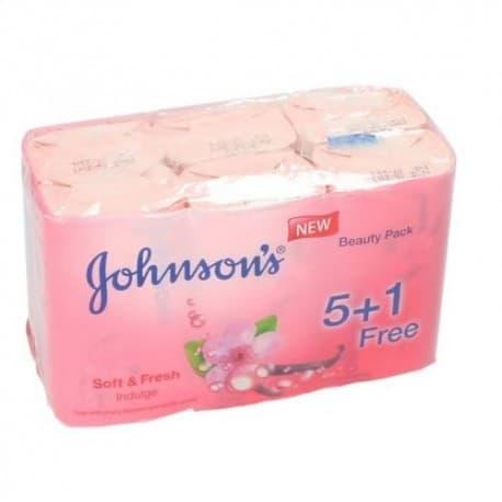 صابون جانسون Johnson's با رایحه آلبالو و وانیل بسته 6 عددی