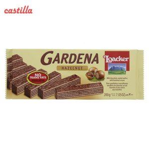 ویفر شکلاتی لواکر گاردنا طعم فندقی وزن 38 گرم