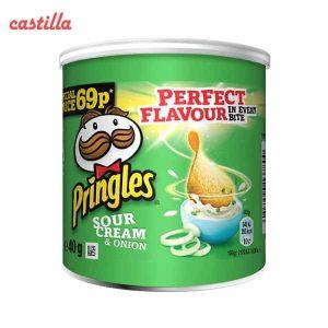 چیپس پرینگلز کوچگ 40 گرم طعم خامه ترش