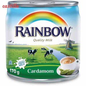 شیر چای هل دار آبکی رین بو 160 میل قوطی
