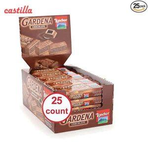 ویفر لواکر گاردنا طعم شکلاتی بسته 25 عددی
