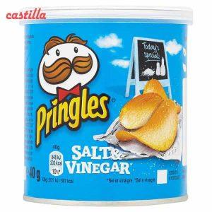 چیپس پرینگلز کوچگ 40 گرم طعم سرکه نمکی