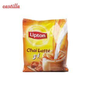 شیر چای لاته لیپتون با طعم کاراملی بسته 18 عددی